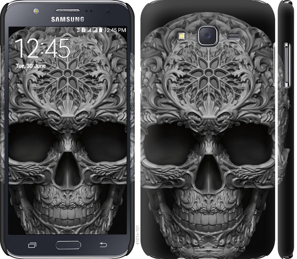 Чехол на Samsung Galaxy J7 J700H skull-ornament