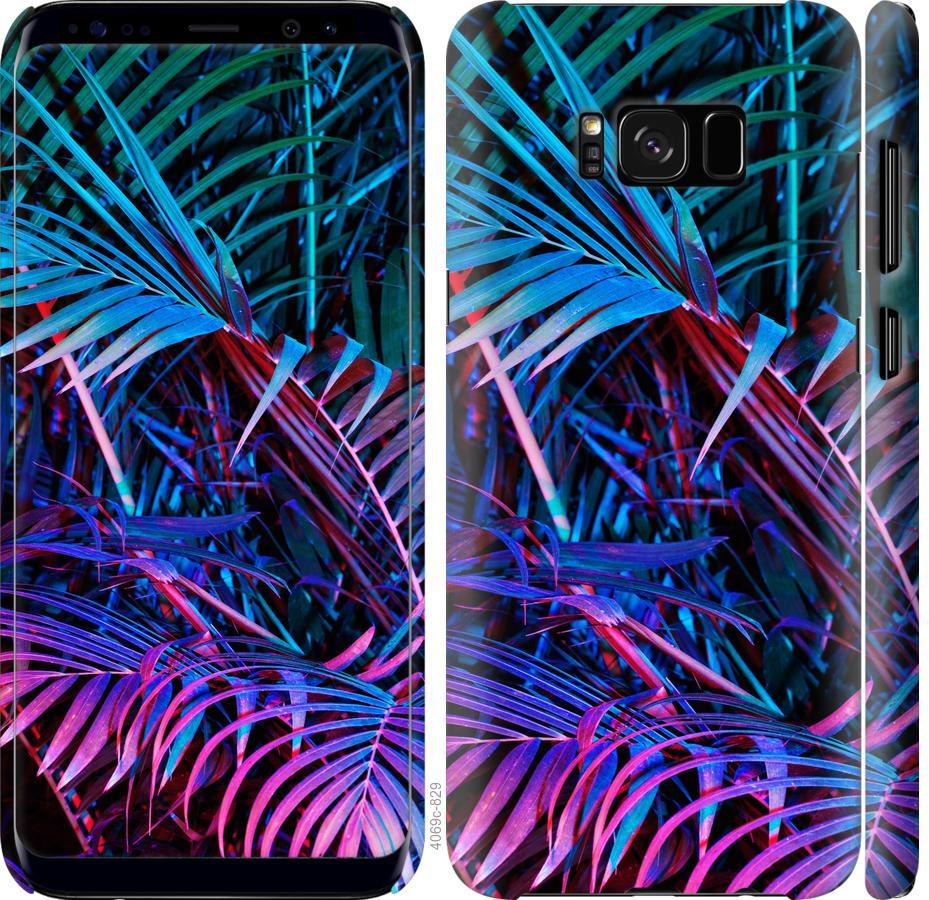 Чехол на Samsung Galaxy S8 Папоротник под ультрафиолетом