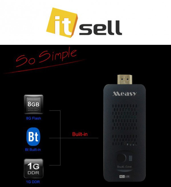 Фото Android HDMI Mini PC MEASY U2B (+ bluetooth) на itsell.ua
