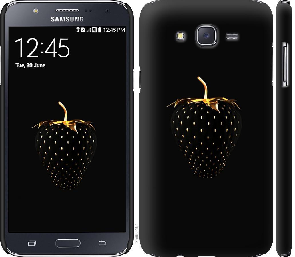 Чехол на Samsung Galaxy J7 J700H Черная клубника