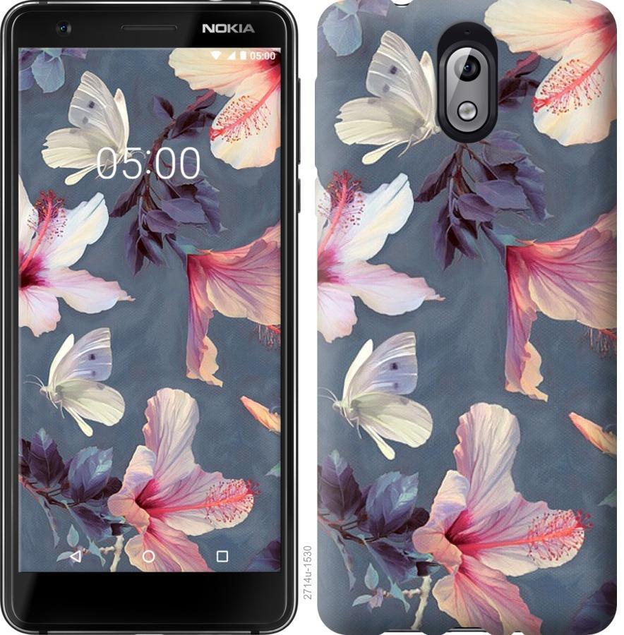 Чехол на Nokia 3.1 Нарисованные цветы
