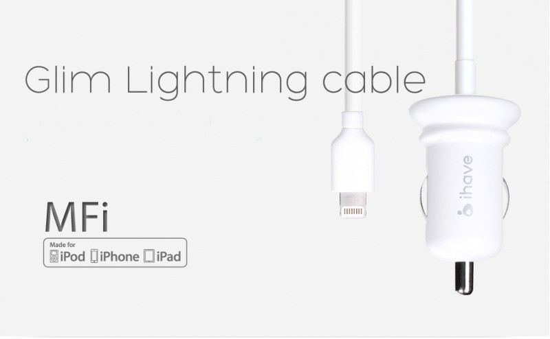 Фото АЗУ IHAVE Glim для Apple lightning (2,4 А) (1 цвет) на itsell.ua