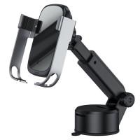 Автодержатель с БЗУ (набор) Baseus Rock-Solid Electric Holder Wireless charger kit (WXHW01-B0S)