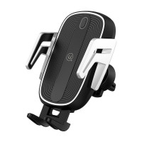 Автодержатель USAMS US-CD100 Automatic Touch Induction Wireless Charging Car Holder (Air Vent)