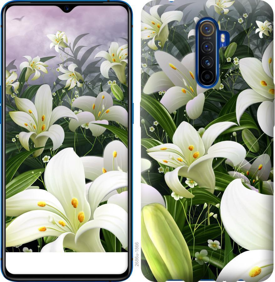 Чехол на Oppo Reno 2 Белые лилии