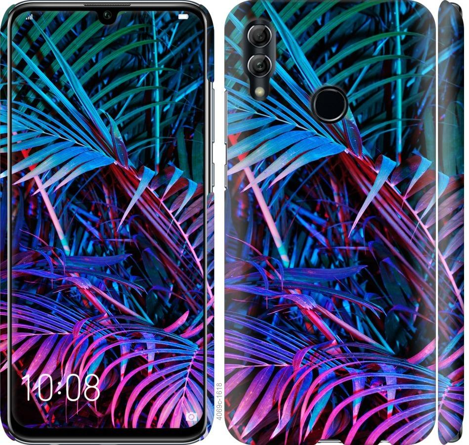 Чехол на Huawei Honor 10 Lite Папоротник под ультрафиолетом