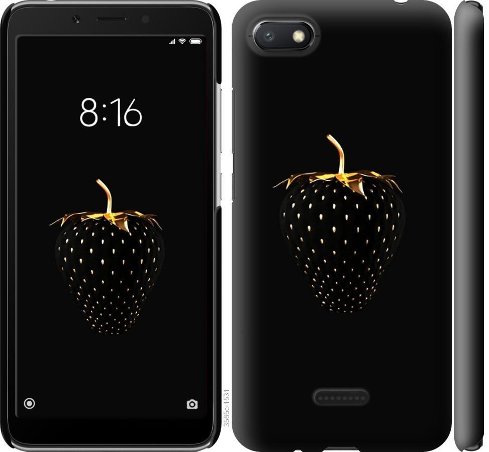 Чехол на Xiaomi Redmi 6A Черная клубника