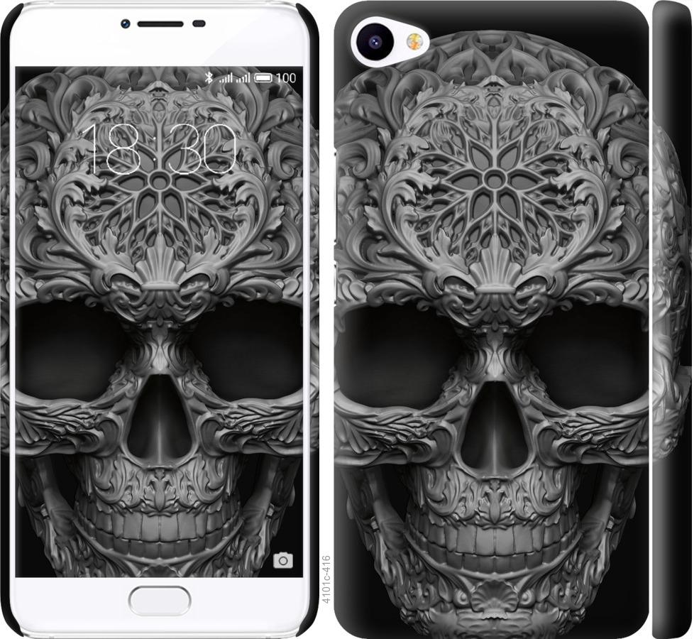 Чехол на Meizu U20 skull-ornament