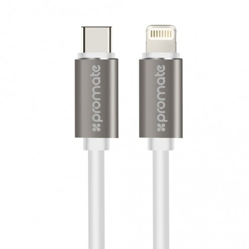 Фото Кабель Promate - linkMate-LTC USB-C Type-C Data & Charge OTG Cable with Lightning Connector (2 цвета) на itsell.ua