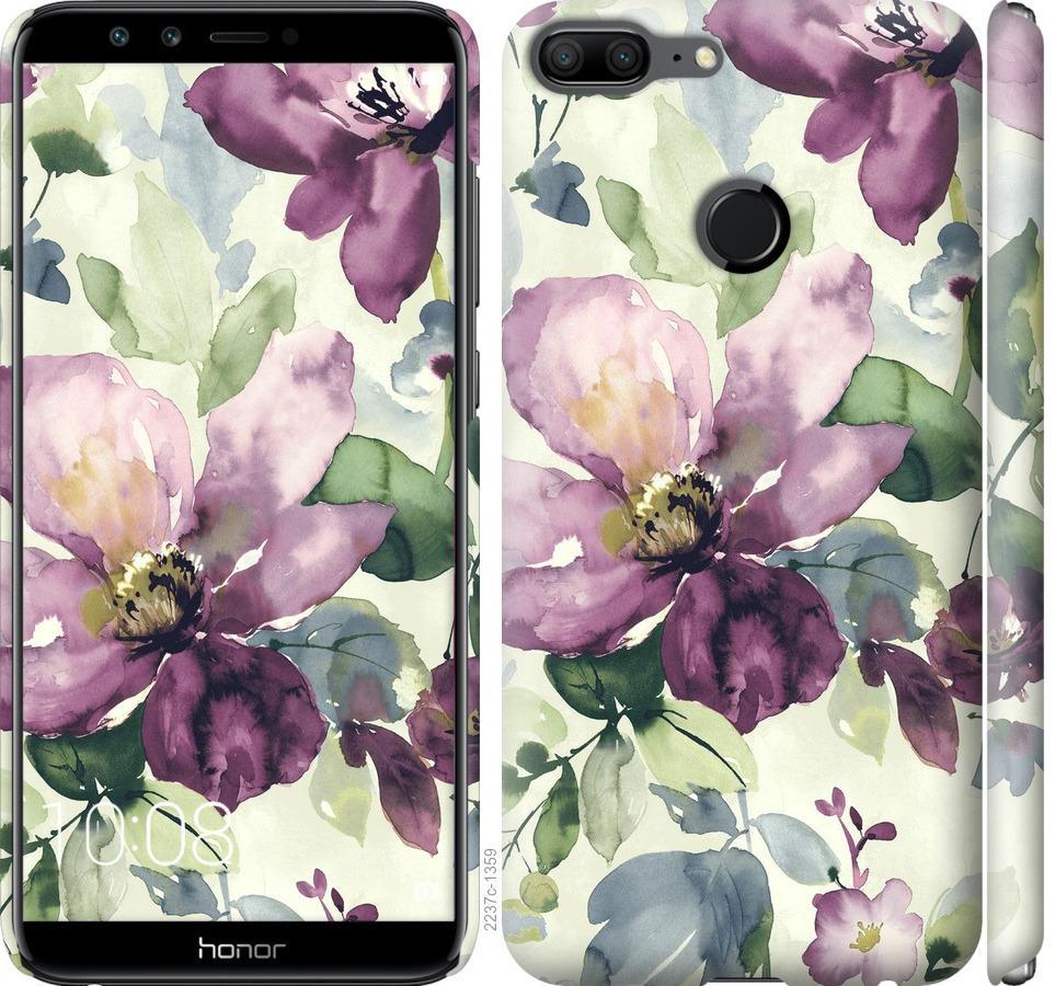 Чехол на Huawei Honor 9 Lite Цветы акварелью