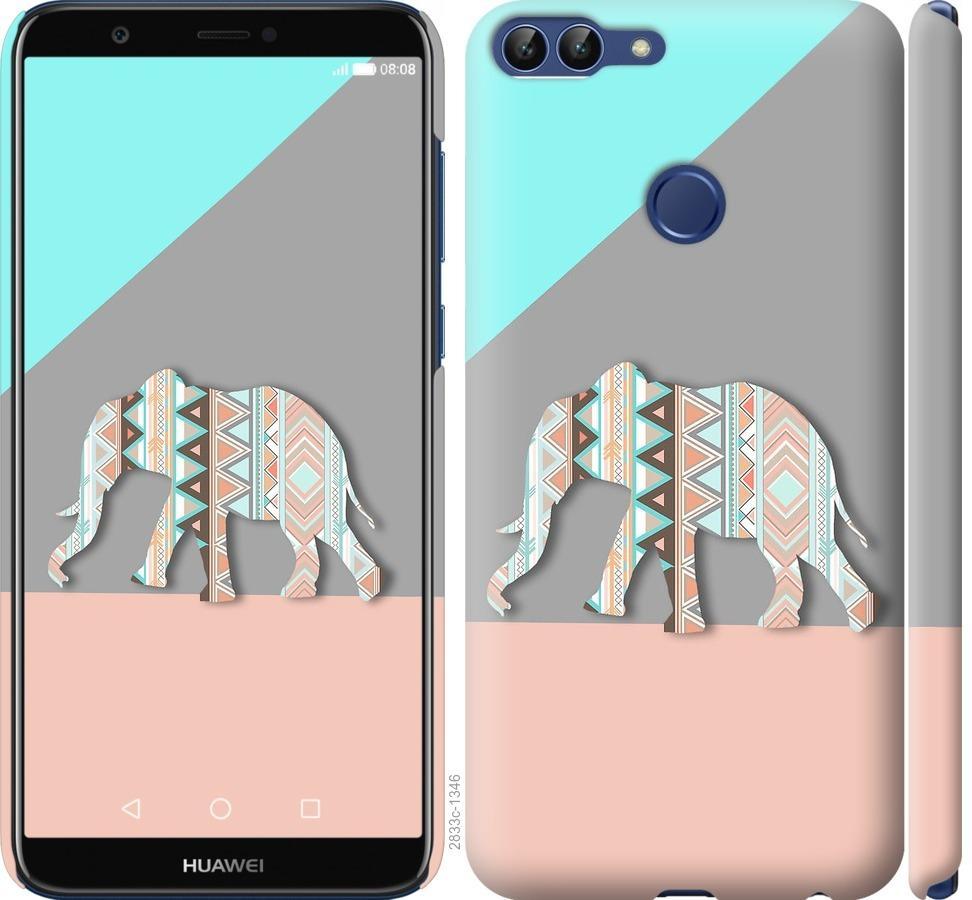 Чехол на Huawei P Smart Узорчатый слон