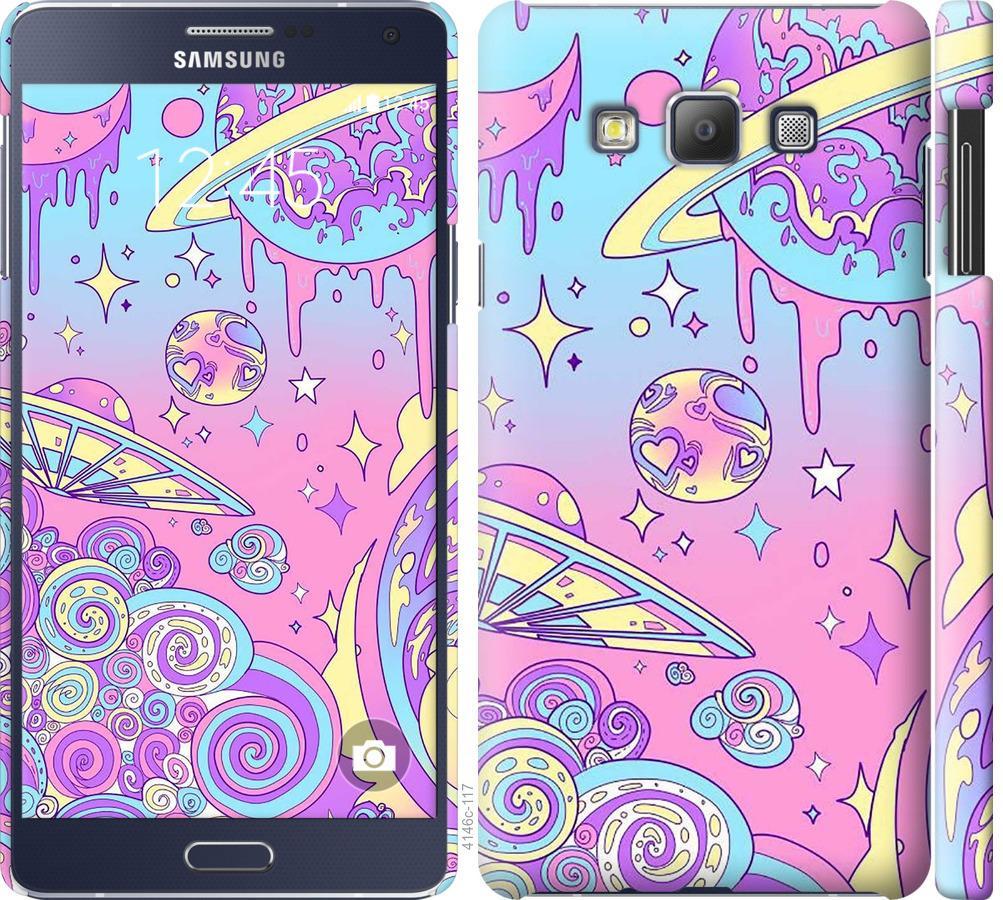 Чохол на Samsung Galaxy A7 A700H Рожева галактика