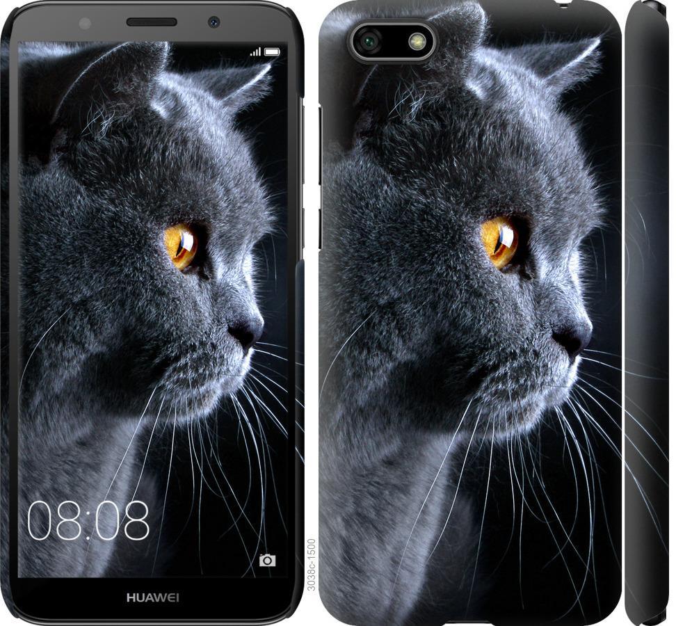 Чехол на Huawei Y5 2018 Красивый кот