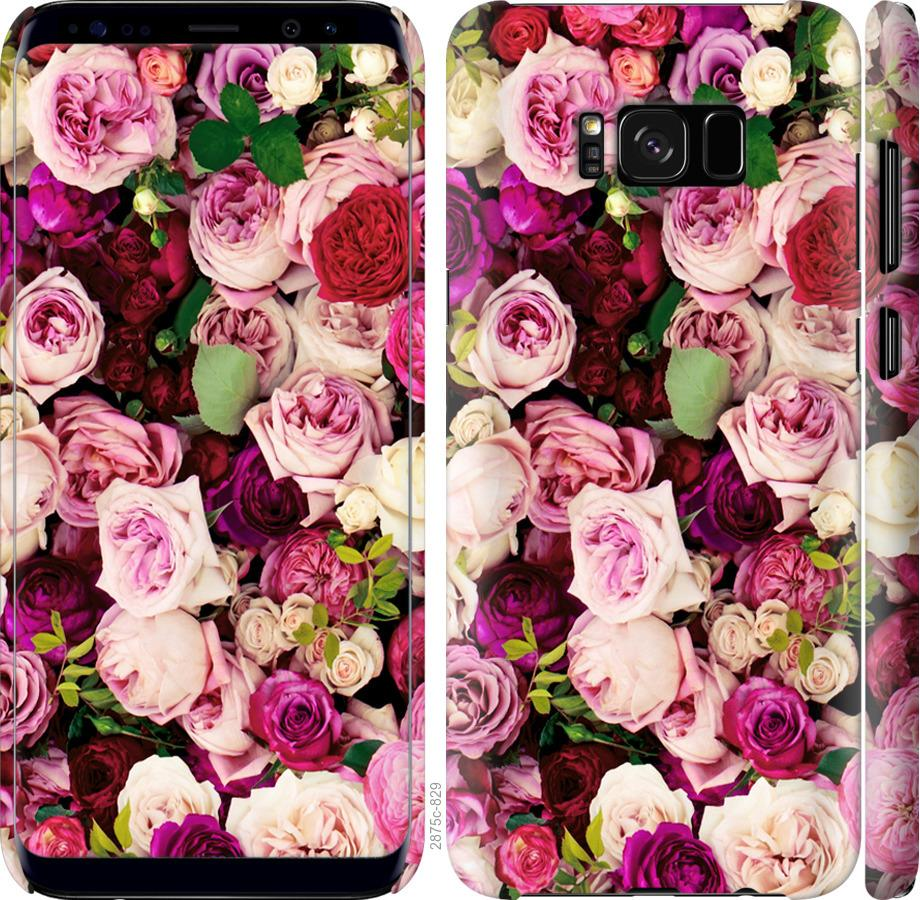 Чехол на Samsung Galaxy S8 Розы и пионы