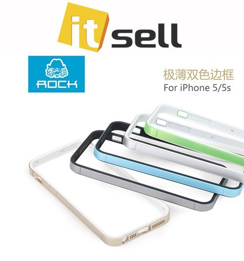 Фото Бампер ROCK Slim Guard Series Dual-color для Apple iPhone 5/5S/SE на itsell.ua