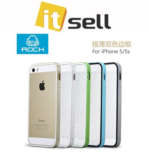 Фото Бампер ROCK Slim Guard Series Dual-color для Apple iPhone 5/5S/SE в магазине itsell.ua