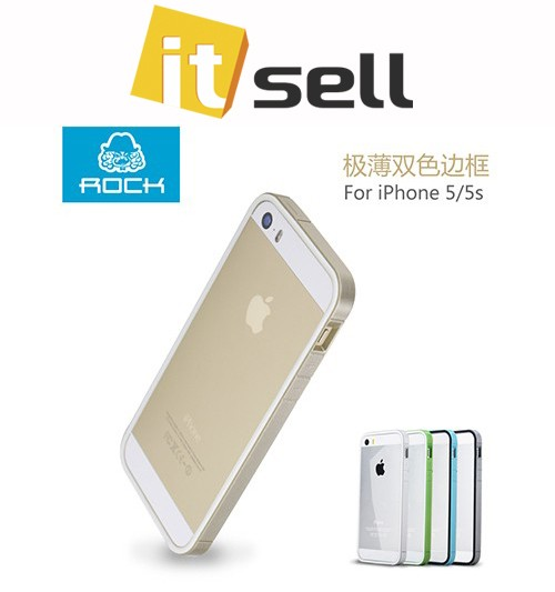 Фото Бампер ROCK Slim Guard Series Dual-color для Apple iPhone 5/5S/SE Золотой / Gold на itsell.ua