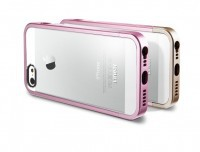 Фото Чехол SGP Linear Metal Crystal Series для Apple iPhone 5/5S (+ пленка) розовый на itsell.ua