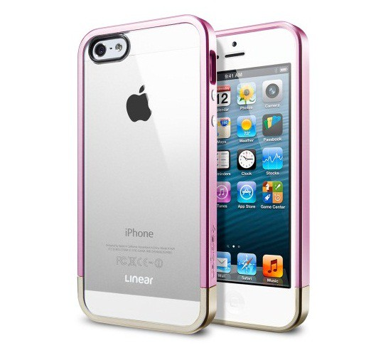 Чехол SGP Linear Metal Crystal Series для Apple iPhone 5/5S (+ пленка)