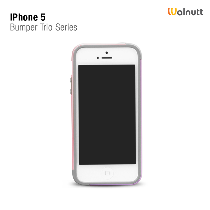 Фото Бампер Zenus Walnutt Trio Case Series для Apple iPhone 5/5S розовый на itsell.ua