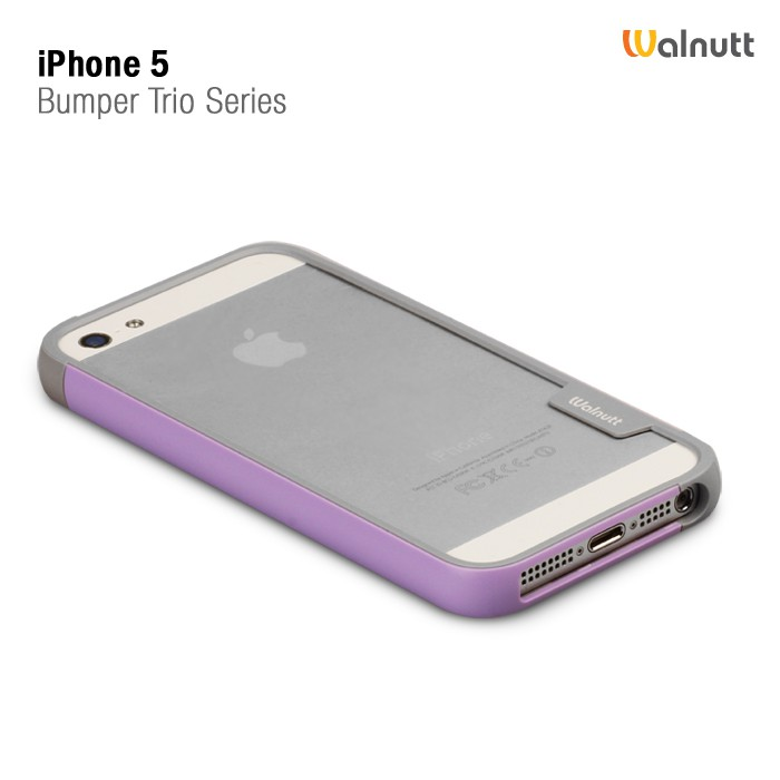 Фото Бампер Zenus Walnutt Trio Case Series для Apple iPhone 5/5S розовый в магазине itsell.ua