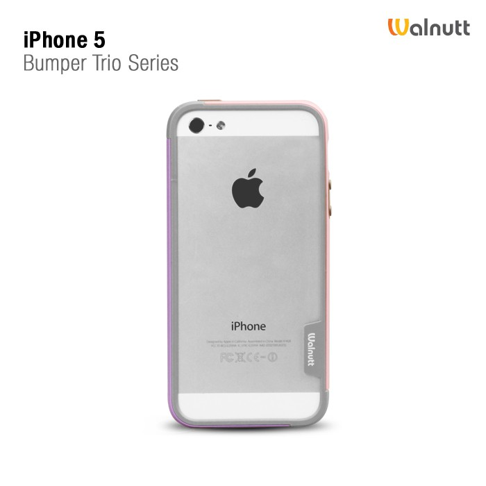 Купить Бампер Zenus Walnutt Trio Case Series для Apple iPhone 5/5S за 199 грн