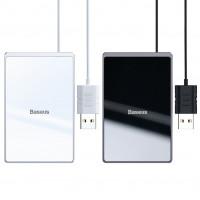 Бездротовий зарядний пристрій Baseus Card Ultra-Thin 15W (with USB cable 1m)