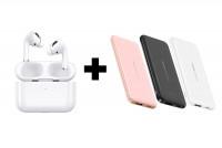 Беспроводные Bluetooth наушники USAMS-YS Emall series BT5.0 + Портативное зарядное устройство Usams PB33 US-CD96 Single USB 5000mAh