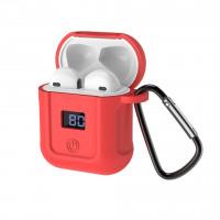 Bluetooth гарнітура HOCO S11 + червоний силіконовий футляр