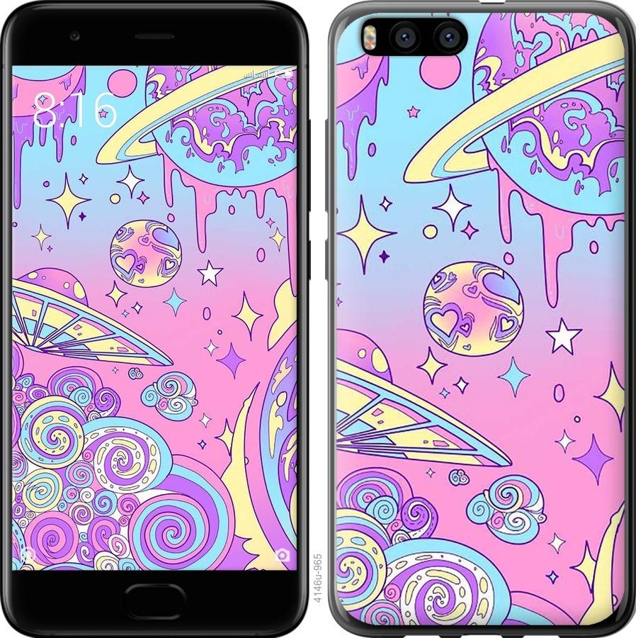 Чехол на Xiaomi Mi Note 3 Розовая галактика