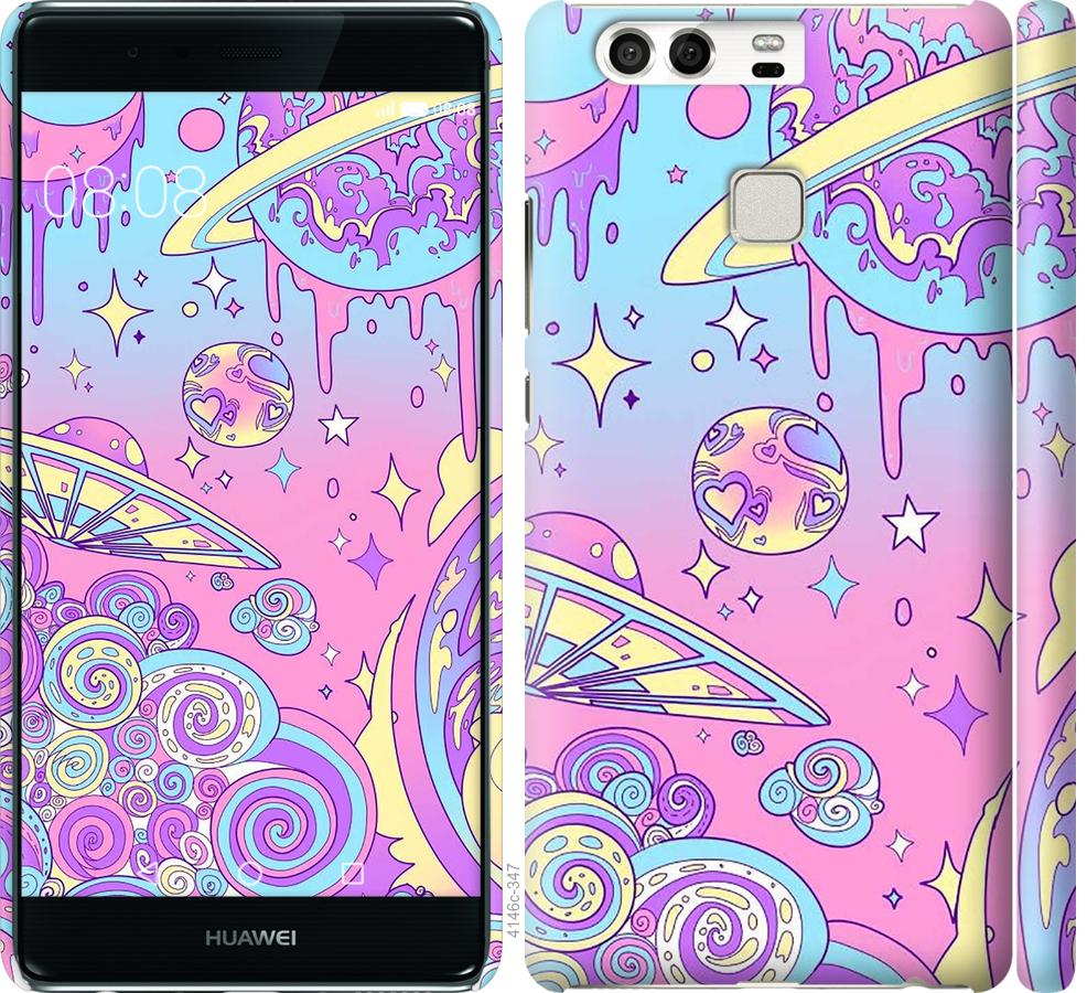 Чехол на Huawei P9 Розовая галактика