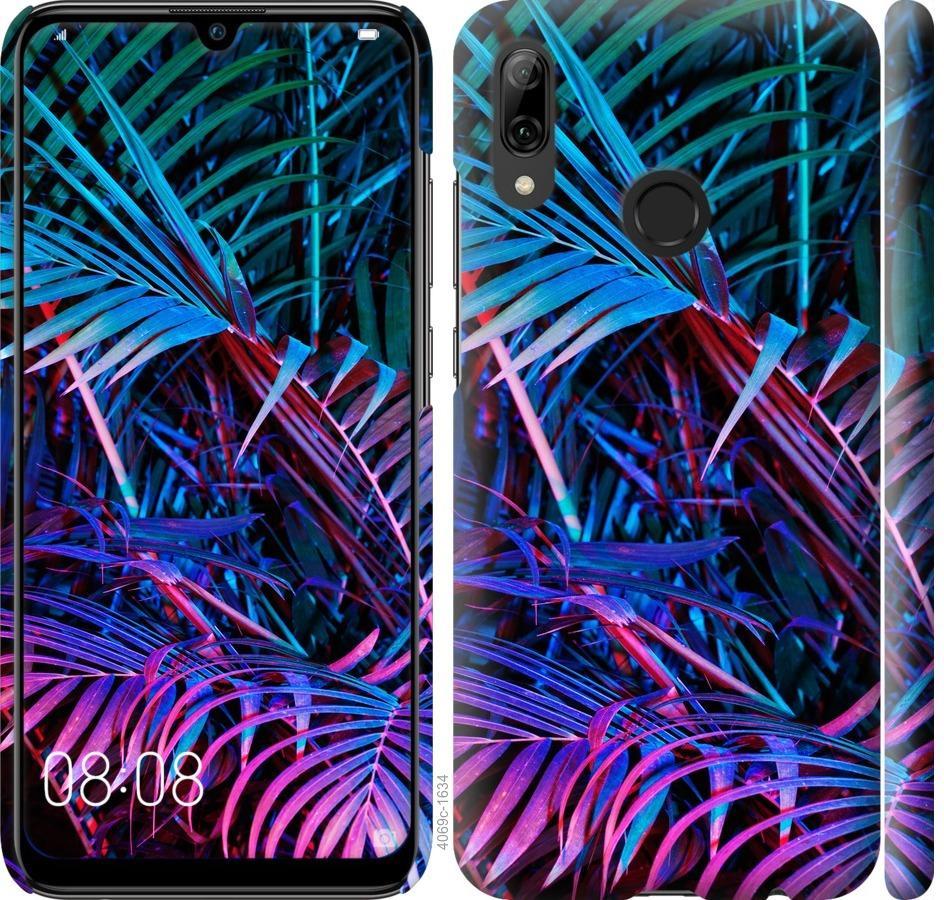 Чехол на Huawei P Smart 2019 Папоротник под ультрафиолетом