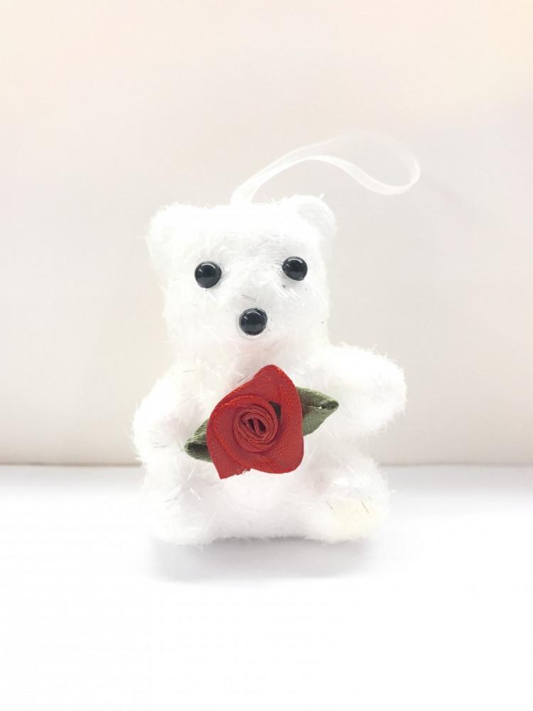сувенир-брелок мишка с розой