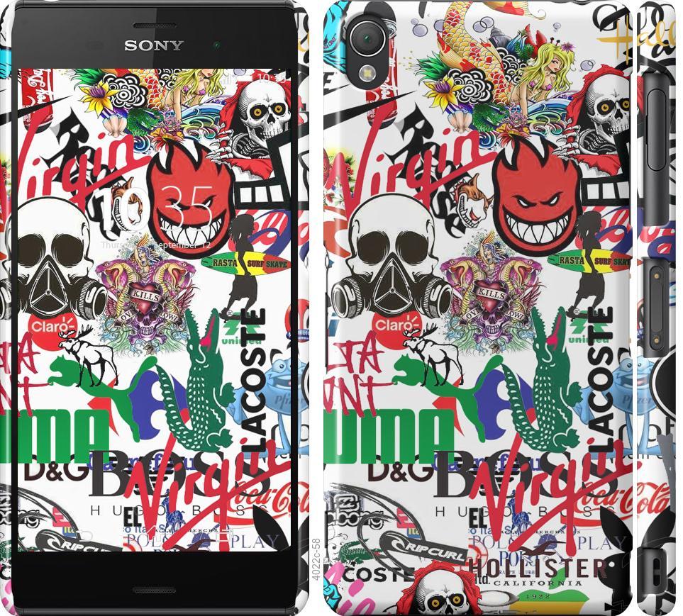 Чехол на Sony Xperia Z3 D6603 Many different logos