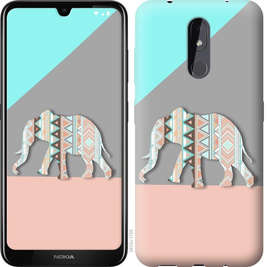Чехол на Nokia 3.2 Узорчатый слон