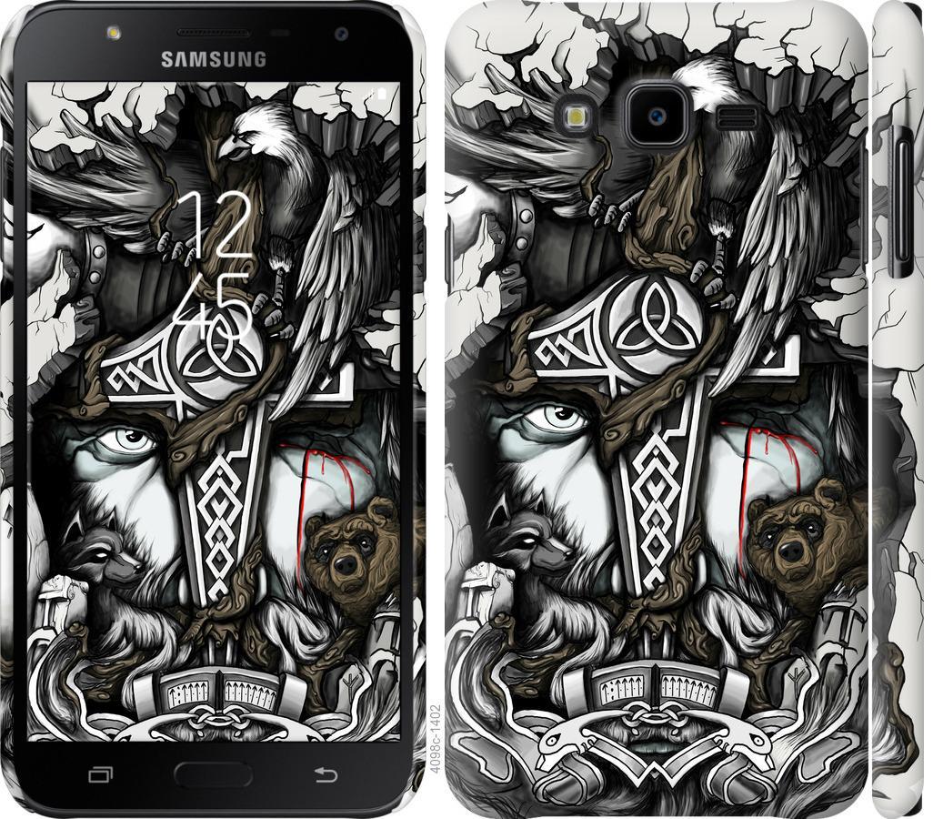 Чехол на Samsung Galaxy J7 Neo J701F Тату Викинг