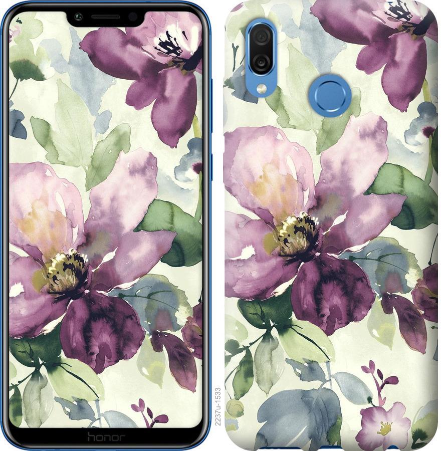 Чехол на Huawei Honor Play Цветы акварелью
