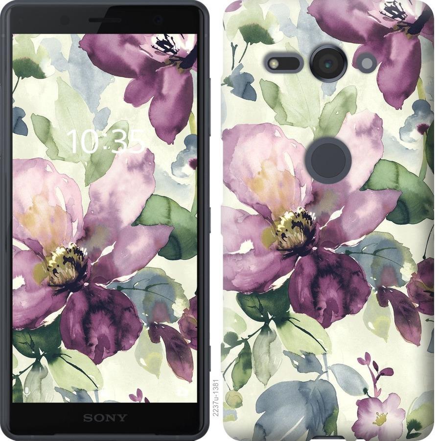 Чехол на Sony Xperia XZ2 Compact H8324 Цветы акварелью