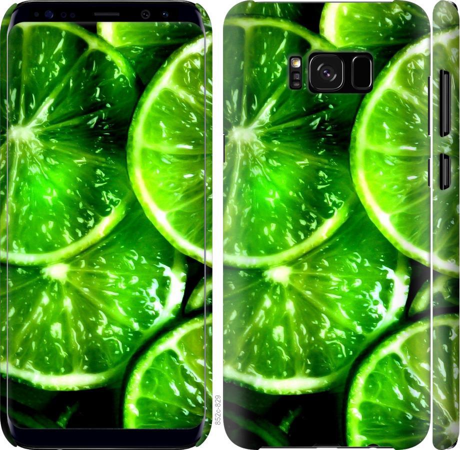 Чехол на Samsung Galaxy S8 Зелёные дольки лимона