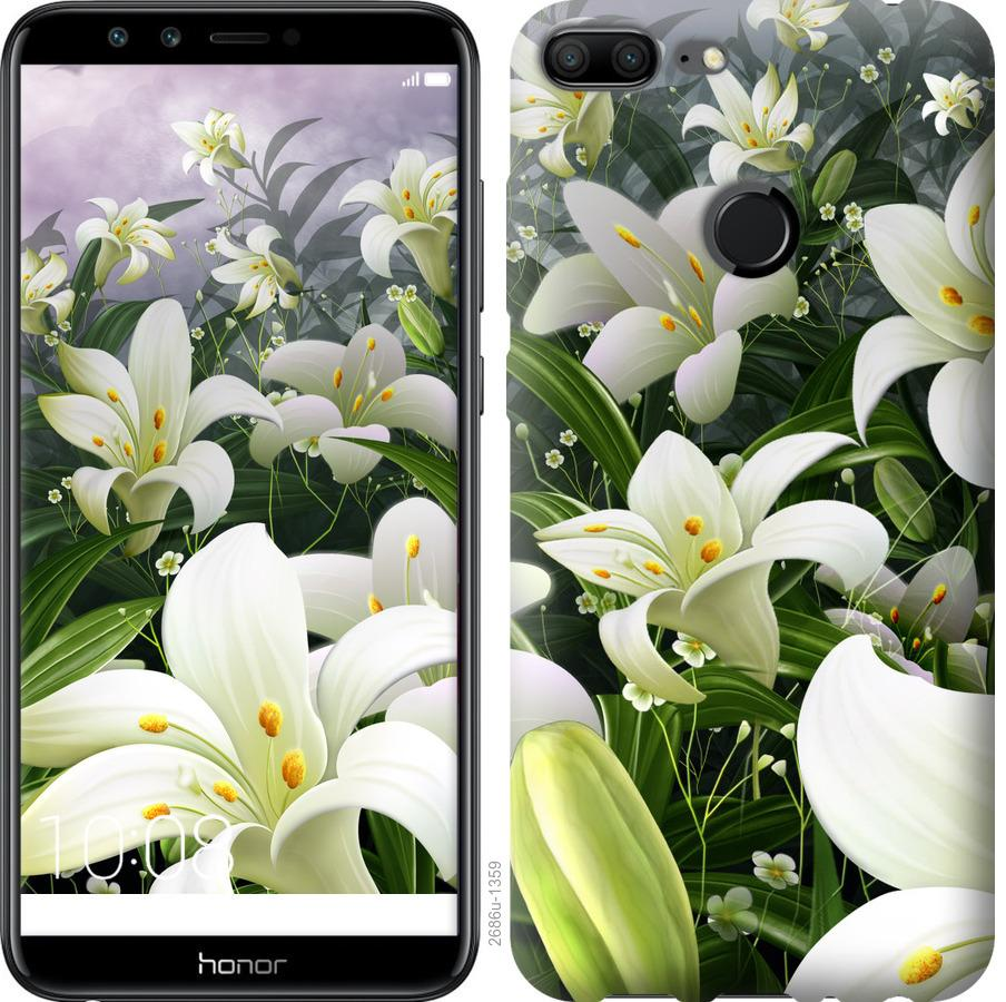 Чехол на Huawei Honor 9i Белые лилии