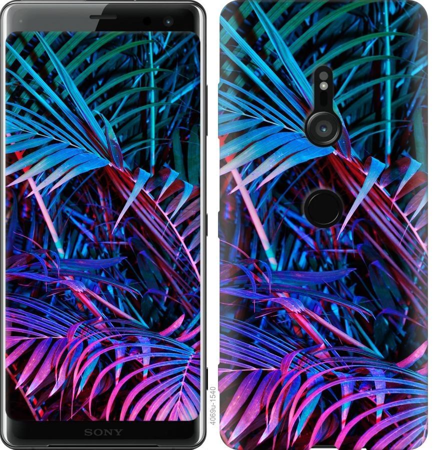 Чехол на Sony Xperia XZ3 H9436 Папоротник под ультрафиолетом