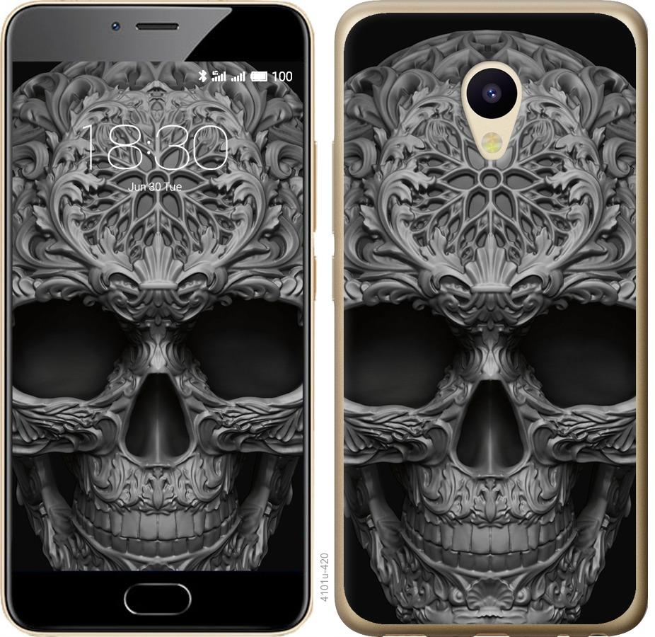 Чехол на Meizu M5 skull-ornament