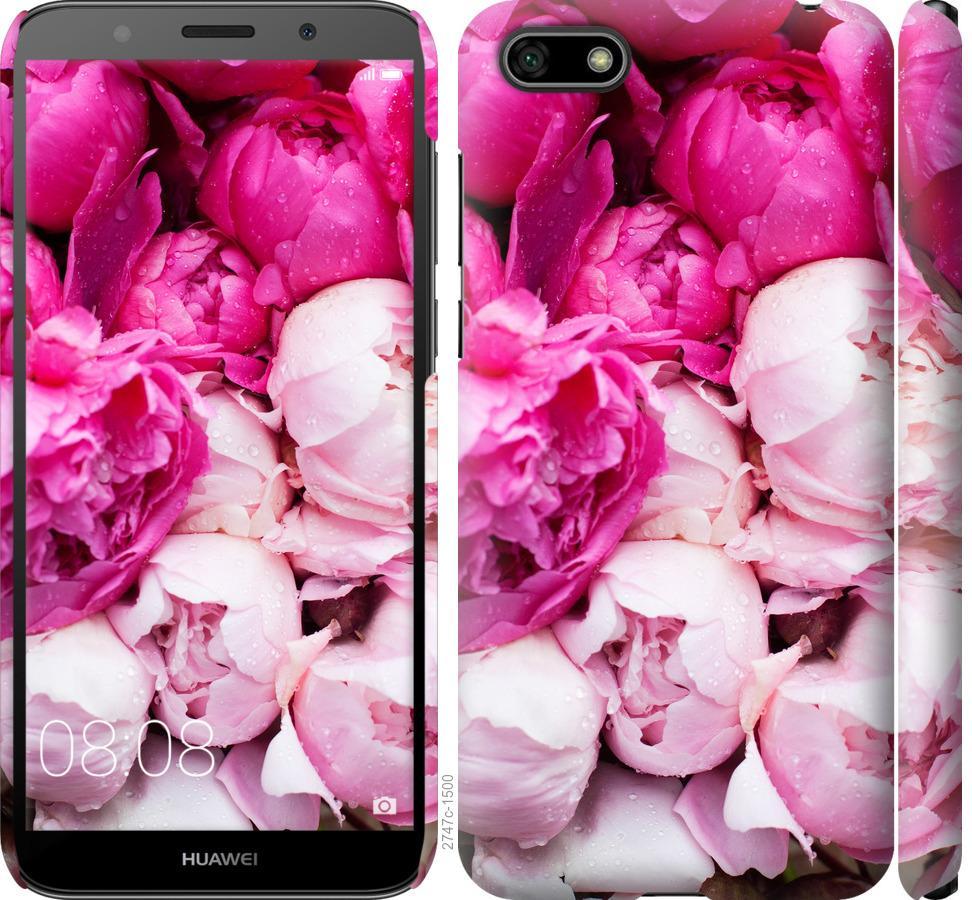 Чохол на Huawei Honor 7A Рожеві півонії