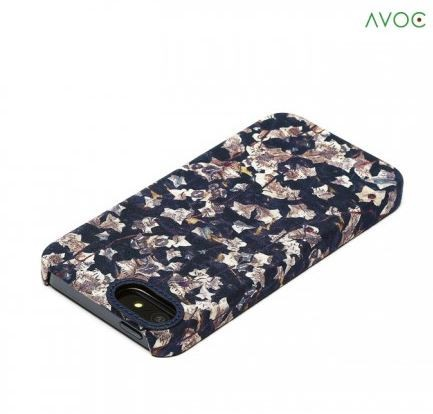 Фото Накладка AVOC Liberty Bar для Apple iPhone 5/5S/SE Navy / Ivy в магазине itsell.ua