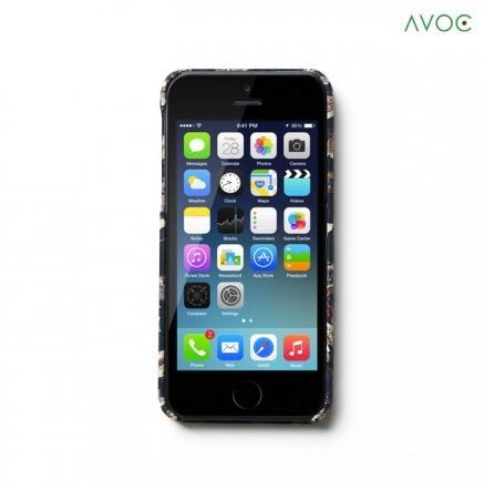 Накладка AVOC Liberty Bar для Apple iPhone 5/5S/SE Navy / Ivy на itsell.ua