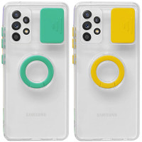 Чехол Camshield ColorRing TPU со шторкой для камеры для Samsung Galaxy A72 4G / A72 5G