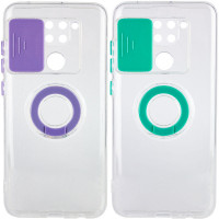 Чехол Camshield ColorRing TPU со шторкой для камеры для Xiaomi Redmi Note 9 / Redmi 10X