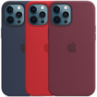 """Чехол Silicone case (AAA) full with Magsafe для Apple iPhone 12 Pro Max (6.7"""")"""