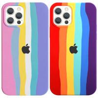 "Чехол Silicone case Full Rainbow для Apple iPhone 12 Pro / 12 (6.1"")"