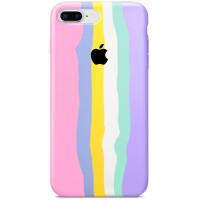 Чехол Silicone case Full Rainbow для Apple iPhone 7 plus (5.5'')